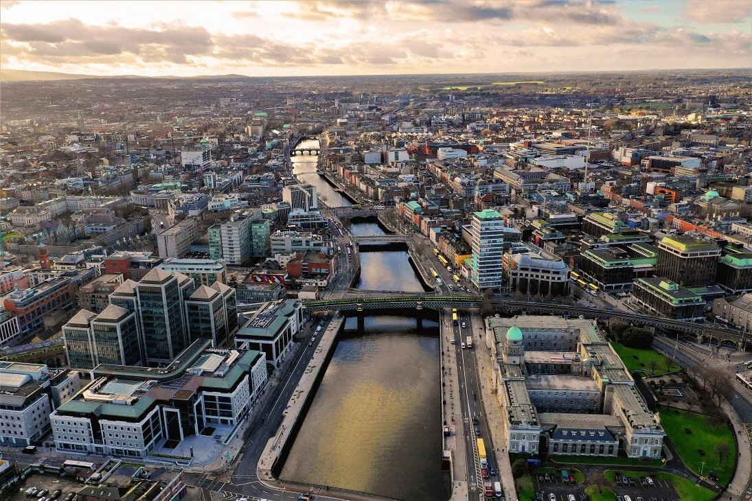 Aerial View Of Dublin City