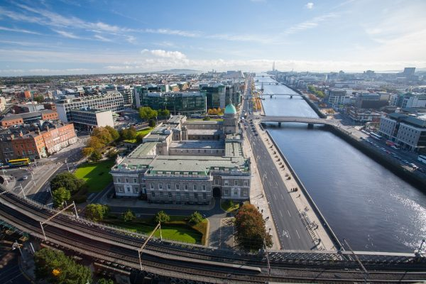 Dublin Skyline Overlooking Liffey River
